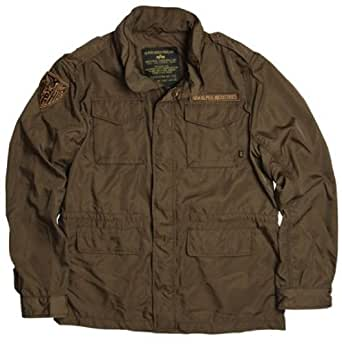 Chocolate Brown - Nylon Slim Fit M-65 Military Jacket w/Patches Size 4 Xl