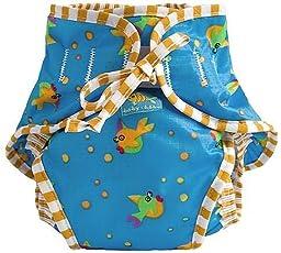 Kushies Reusable Swim Diaper, Medium, Goldfish