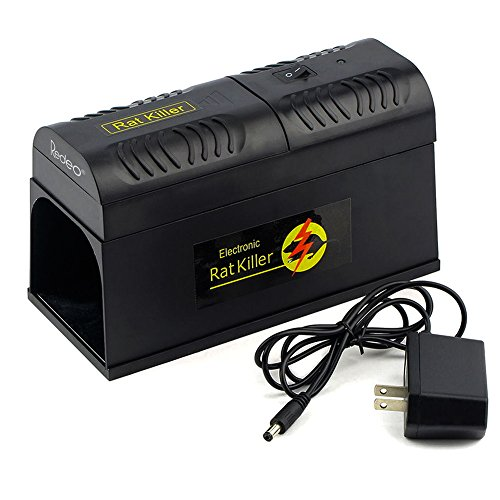 Redeo Electronic Rodent Trap Rat Trap Mouse Trap Scientific Way to Kill Rats Mice Squirrels Chipmunk, Clean and Humane Extermination, Home Essential (Electronic Rat Trap compare prices)