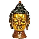 Exotic India Lord Buddha Head - Brass Statue - B00QSCG5K8