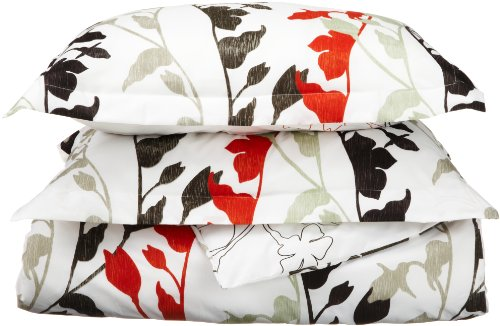 Great Features Of Divatex Grace Microfiber Duvet Full/Queen Mini Set, Red