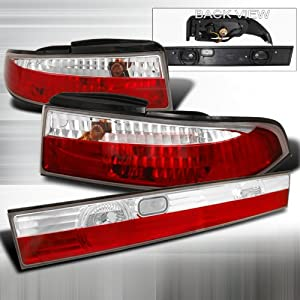 Carro Pacific Nissan 1995-1998 Nissan 240Sx S14 3Pc Tail Lights /Lamps Combination at Sears.com