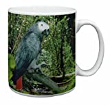 African Grey Parrot Coffee Mug Christmas Gift Idea, Ref:AB-PA76MG