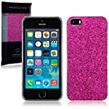 Terrapin Disco Glitter Back Case for iPhone 5S - Hot Pinkby TERRAPIN