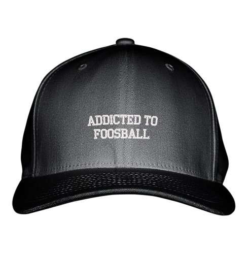 Addicted-To-Foosball-Sport-Embroidered-Adjustable-Structured-Hat-Cap