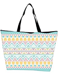Snoogg Light Blue Aztec Waterproof Bag Made Of High Strength Nylon