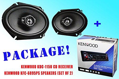 Package ! Kenwood Kdc-115U Cd-Receiver + Kenwood Kfc-C6895Ps Car Speakers
