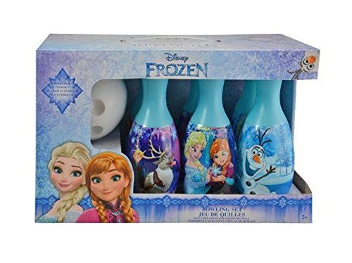 Disney Frozen Elsa Anna Kristoff Olaf and Sven Bowling Set in Display Box 6 Pins and Bowling Ball (Frozen Birthday Party Games compare prices)