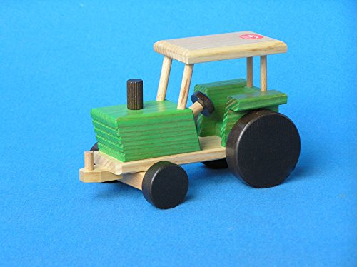 beck-21-cm-steerable-tractor-toy-green