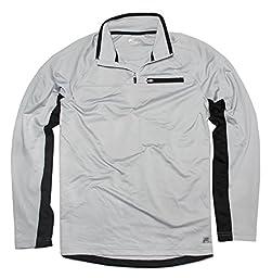 Fila Men\'s Light Weight 1/4 Zip Pullover, Grey, X-Large