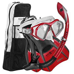 Buy Aqua Lung Admiral Mask Fin Dry Snorkel Set with Snorkeling Gear Bag by Aqua Lung Sport