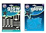 The Original Glowstars Company Cosmic Glow Stars and Glow Spacecraft (Blue)