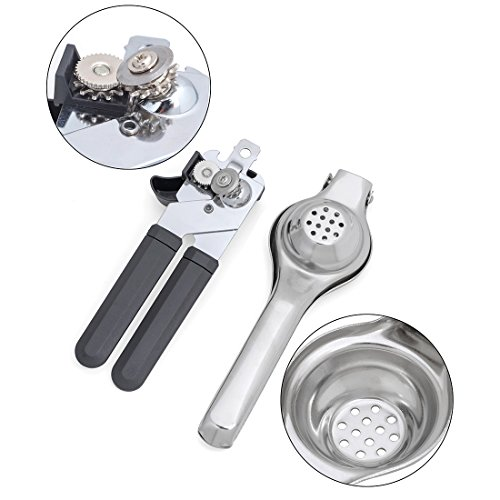 Lemon Squeezer , WonderHome Manual Lime Juiceron Juicer, Smart Juicer Press Limes & Citrus Fruit With Jar Opener (Stress Less Safety Can Opener compare prices)