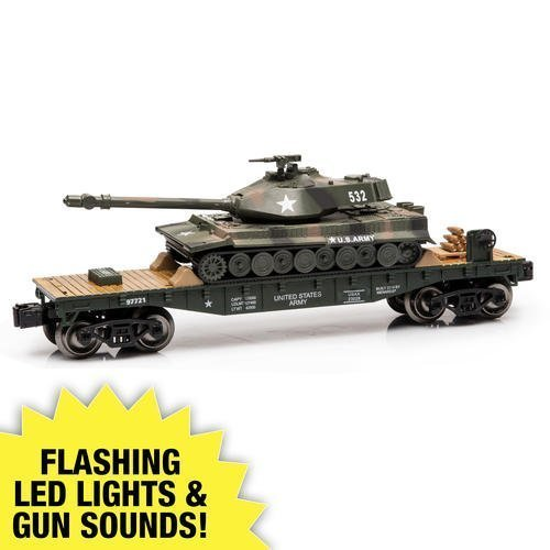 o-gauge-us-military-flatcar-with-us-army-tank-with-working-lights-and-sounds-by-menards