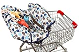 (Limited Time Sale $19.99!) crocnfrog 2-in-1 Shopping Cart & High Chair Cover for Baby- Machine Washable, Free eBook