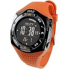 buy Pyle Sports Pskiw25O Ski Master V Professional Ski Watch W/ Max. 20 Ski Logbook, Weather Forecast, Altimeter, Barometer, Digital Compass,Thermometer (Orange Color)