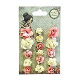 Santoro Mirabelle Premium Paper Flowers Vintage Craft Embellishments x16
