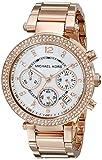 Michael Kors Damen-Armbanduhr Chronograph Quarz Edelstahl beschichtet MK5491