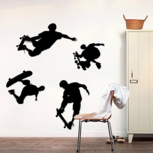 casa-gioco-skateboard-sport-adesivo-da-parete-decorazioni-in-pvc-vinile-carta-da-parati-per-camera-d