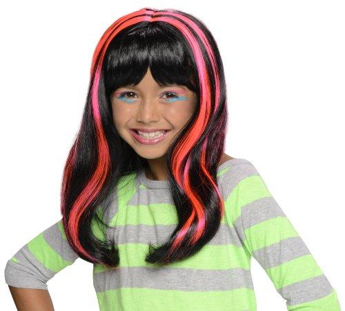 Pink Neon Streaks Wig