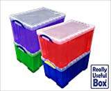 Assorted Lot of 84 Litre Really Useful Plastic Boxes, Pack of 4 Boxes