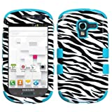 Product B00FFVNPFG - Product title MYBAT Hybrid Dual Layer Hard Crystal Skin Gel Snap-On Protector Cover Case For Samsung Galaxy Exhibit T599 - Retail Packaging - Zebra
