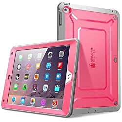 iPad Air 2 Case, SUPCASE [Heavy Duty] Apple iPad Air 2 Case [2nd Generation] 2014 Release [Unicorn Beetle PRO Series] Full-body Rugged Hybrid Protective Case Cover with Built-in Screen Protector, Pink/Gray - Dual Layer Design + Impact Resistant Bumper