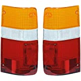 1989-1995 Toyota Pickup Truck 2WD & 4WD Tail Light Lamp Taillight Taillamp Lens Only Pair Set: Right Passenger AND Left Driver Side (1989 89 1990 90 1991 91 1992 92 1993 93 1994 94 1995 95)