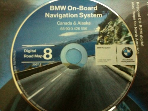 navigation CD # 8 for BMW, Land Rover or Mini Cooper. Disk covers Canada and Alaska (map date 2007)