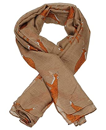 Megan Fox Print Scarf in Brown