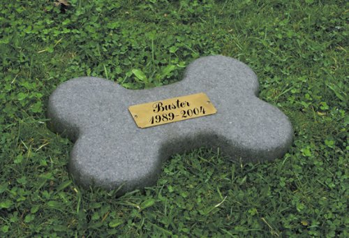 Bone Pet Memorial Marker and Urn in Granite