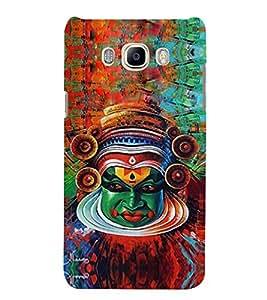 Kathakkali Mask 3D Hard Polycarbonate Designer Back Case Cover for Samsung Galaxy J7 (6) 2016 Edition :: Samsung Galaxy J7 (2016) Duos :: Samsung Galaxy J7 2016 J710F J710FN J710M J710H