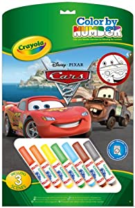 Crayola 555210 - Cars Malen nach Zahlen incl. 7 Stifte