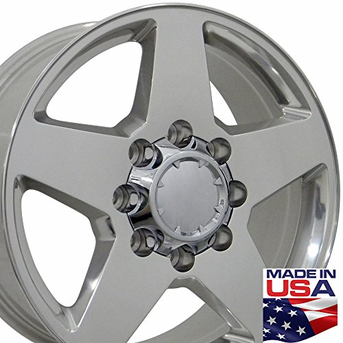 20x8.5 Wheels Fit Chevy Truck - Silverado Style Rim - Polished - Set of 4 (Chevy Silverado Rims 20 compare prices)