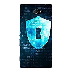 Cute Cyber Secur Print Back Case Cover for Sony Xperia M2