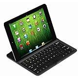 【BlueSea】iPad mini対応 スタンド機能付きアルミニウムブルートゥースキーボードケース Mobile bluetooth keyboard For iPad Mini【日本語説明書付き】 (ブラック)