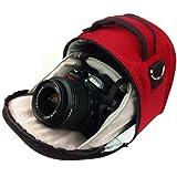 VG Red Laurel DSLR Camera Carrying Bag with Removable Shoulder Strap for Nikon D3200 Digital SLR Camera