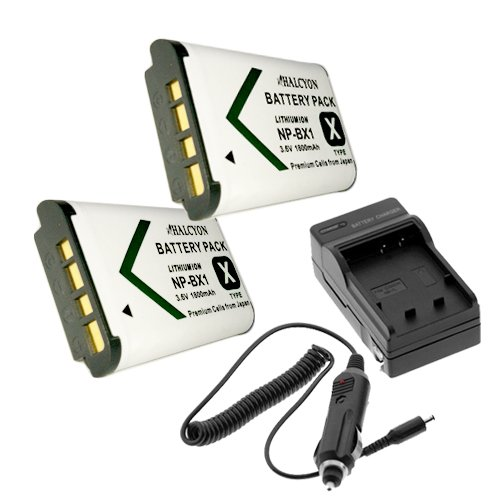 Two Halcyon 1800 mAH Lithium Ion Replacement Battery and Charger Kit