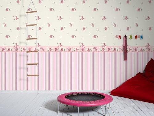 esprit kids 109033 vliestapete dragon castle streifentapete. Black Bedroom Furniture Sets. Home Design Ideas