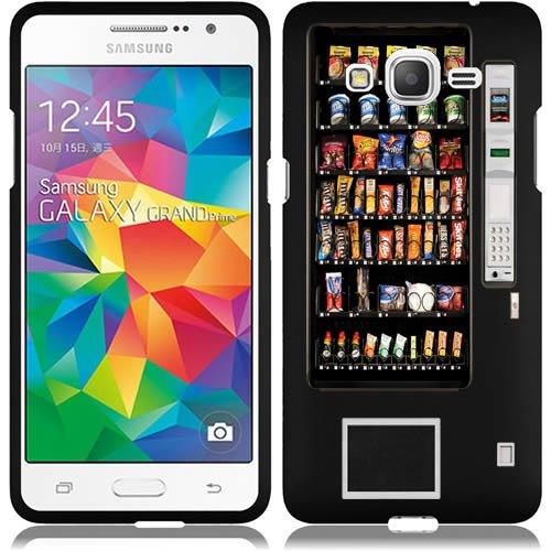 URAKKI Black Retro Vending Machine Design on Hard Slim Fit Phone Case Cover for Samsung Galaxy Grand Prime G530H (Phone Charging Vending Machine compare prices)