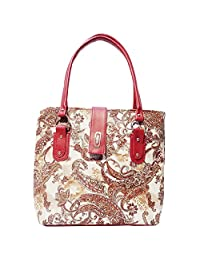 Frenchxd Savanah Eda Fancy Stylish Floral Handbag For Women (Multi-Coloured )