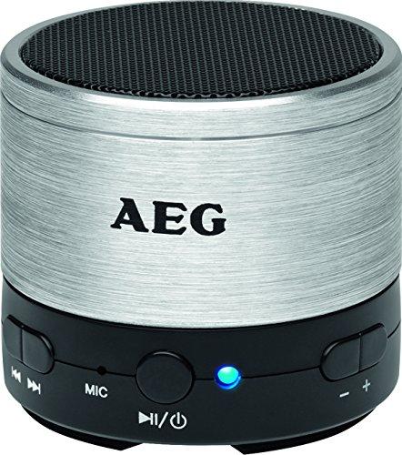 AEG BSS 4826 Bluetooth Lautsprecher silber