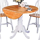 Coaster Home Furnishings 4241 Country Dining Table, Natural and White