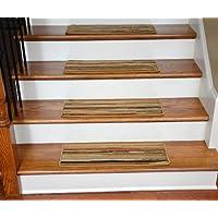 Dean Premium Carpet Stair Treads - Striation Stripes Beige 26
