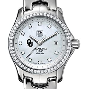 University of Oklahoma TAG Heuer Watch - Women's Link with Diamond Bezel