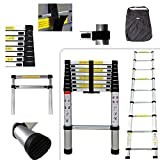 PRO 2.60 m telescopic ladder - Carry bag included - Aluminium ladder - EN 131 Standards