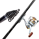 High Carbon Rocky Telescopic Fishing Rod Casting Rods Fishing Pole Fiber Feeder Carp Rods(3.6m)