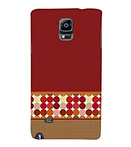 Sticker Wall Art Dotted 3D Hard Polycarbonate Designer Back Case Cover for Samsung Galaxy Note 4 N910 :: Samsung Galaxy Note 4 Duos N9100