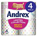 Andrex Decorated Bright & Bold Toilet Tissue 8x4 per pack