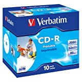 Verbatim 43325 AZO 52x Printable CD-R - Jewel Cased 10 Packby Verbatim